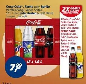 [Bundesweit] [Preisdifferenzierung lokal] Coca Cola Kasten + 2 Flaschen extra für 7,99 € bei real,- (bzw. 8,49 €)
