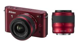 Amazon UK Blitzdeal: Nikon 1 J2 10-30mm + 30-110mm Double Lens Kit - Rot (10.1MP)