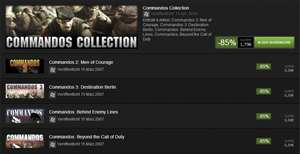 STEAM: Commandos Collection (mitunter in den Weekly-Deals)
