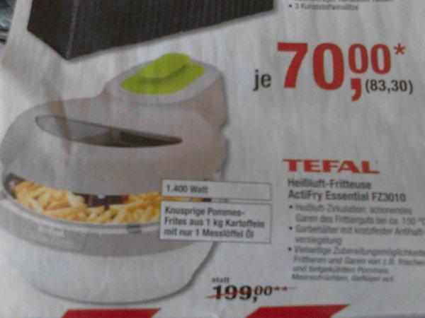 TEFAL Heißluftfritteuse ActiFry Essential FZ3010 ab Do. 27.02. bei Metro (leider nur für Gewerbetreibende)