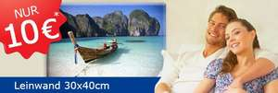 30x40cm Fotoleinwand für 14,99€