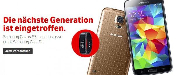 Samsung Galaxy Gear Fit gratis zur Galaxy S5 Vorbestellung [Deal statt Freebie]