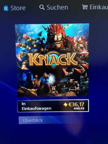 Knack (Playstation 4) für PS+ Mittglieder für 36,17 Euro