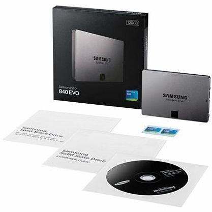 Samsung SSD 840 EVO, SATA-600, 120 GB, neu, ovp @ hood.de für 58,80