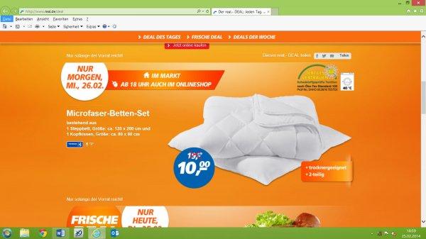 [Online/Offline Real] Microfaser-Betten-Set Real Deal des Tages am 26.02.2014