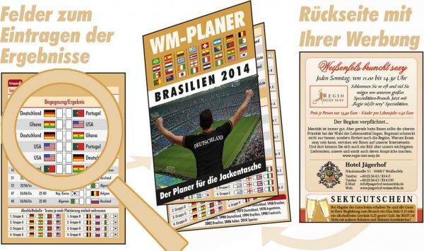 WM Planer Muster kostenlos für Brasilien im Juni