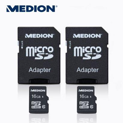 2 × 16 GB Class 10 microSDHC-Speicherkarte inkl. SD-Adapter bei Aldi Nord ab 27.02