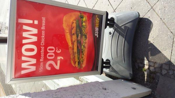 [Lokal Berlin (-Zehlendorf)] Subway Roasted Chicken 15cm für 2 Euro!