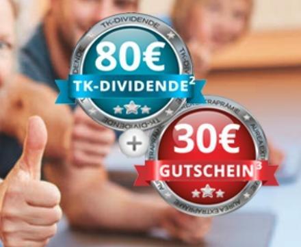 Zur TK wechseln und 80€ Dividende + 30€ Amazon Gutschein erhalten @Aurea Capital