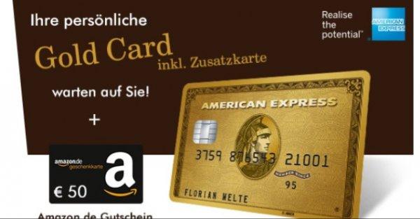 Amex Gold/Priority Pass ein Jahr gratis + 50€ Amzongutsxhein