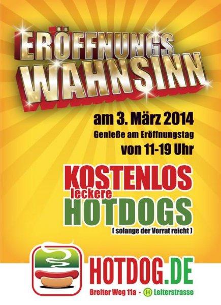 [Lokal] Magdeburg: Kostenlose Hotdogs zur Eröffnung von Hotdog.de Laden