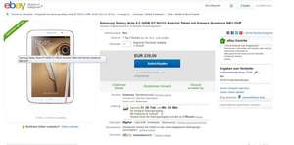 Top Preis! Samsung Tab Galaxy Note 8.0