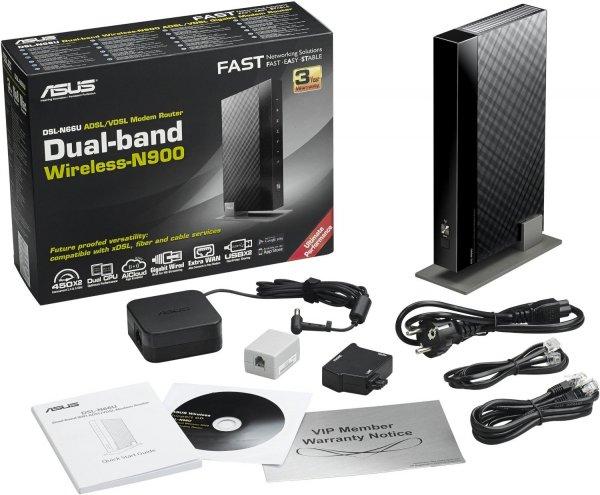 Asus DSL-N66U für 129€ - 900Mbit/s Router inkl VDSL2 / ADSL2/2+ Modem