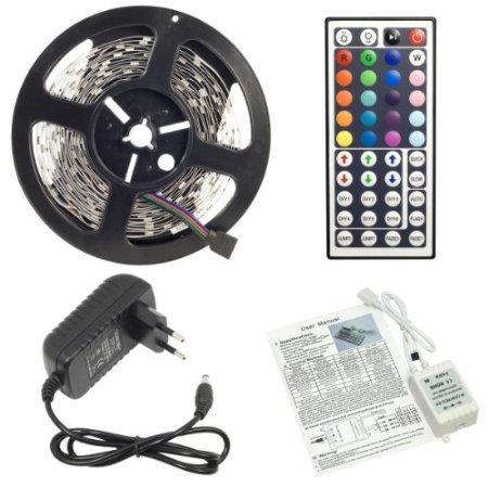 5 Meter RGB LED STRIP - Controller, 44 Tasten Fernbedienung und Netzteil für 17,99€ @Amazon