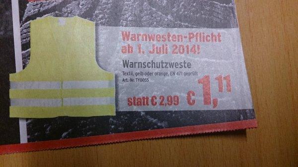 Warnweste EN471 geprüft ATU 26-08.03 bundesweit offline