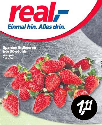 [REAL] 500g Erdbeeren 1,11 Euro