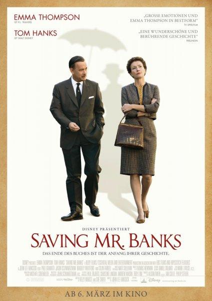 """Für 0,50€ zu zweit ins Kino zu """"Saving Mr. Banks"""" am 03.03.2014  (ROSENMONTAG!) um 20:00 Uhr"""