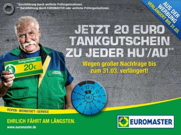 EUROMASTER: TÜV Aktion verlängert bis 31.03.- 20 Euro Tankgutschein geschenkt zur jeder HU/AU