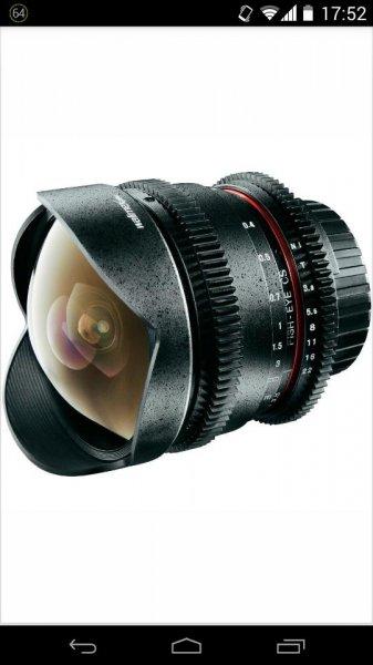Walimex Pro 8mm f/3,8 Fisheye Canon @Conrad ebay