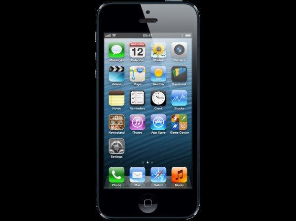 APPLE MD662DN/A iPhone 5 Black 64 GB + 60€ Gutschein