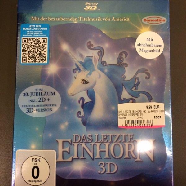 Das letzte Einhorn 3D + 2D BluRay für 9,99 (ca 30% Ersparnis) im Media Markt Alexanderplatz