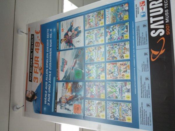 [Köln (?)] 3 xbox 360/ps3/ PC spiele für 49€ z.B. Battlefield 4, Need for Speed Rivals und Fifa 14 für 49€ (Gewinn mit Trade-In bei Amazon)