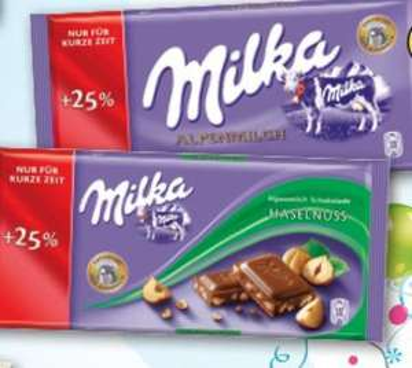 Milka + 25% Gratis für 0,59€ ab Montag den 03.03 BUNDESWEIT bei LIDL