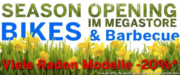 Alle Fahrrad-Angebote zum Season Opening im Megastore Bonn am 15. März