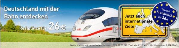 Ltur Bahn - Top-Ziel international nach Frankreich für 36€ (einfach)