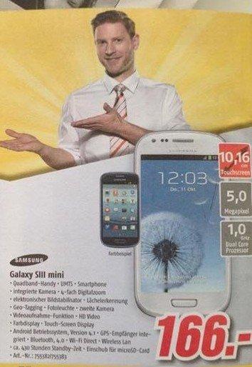 S3 Mini für 166€ bei Medimax Kiel Verkaufsoffener Sonntag am 2. März