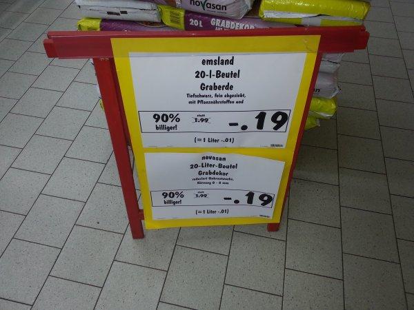 Emsland Blumenerde im Kaufland Münchberg für 19 cent