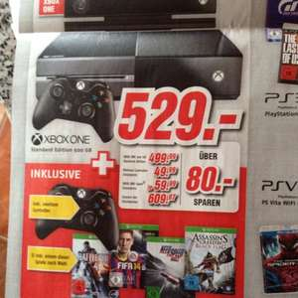 XBOX One+2.Controller+1 Spiel MediMax 529€ (Stralsund)