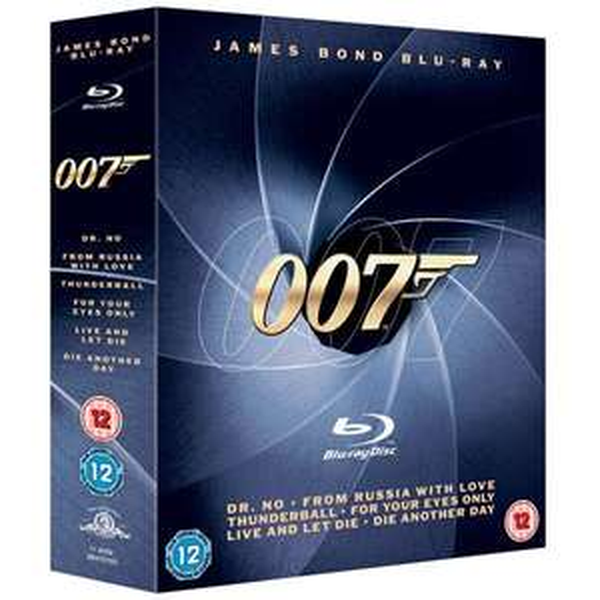 Blu-ray Box - James Bond 007 Collection (Dr.No,In tödlicher Mission,Liebesgrüße aus Moskau,Stirb an einem anderen Tag,Leben und sterben lassen,Feuerball auf 6 Discs) für €20,61 [@Zavvi.com]