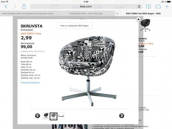 """[OFFLINE] IKEA Siegen - Sessel SKRUVSTA, Bezug: Sunnaryd """"recht günstig"""""""