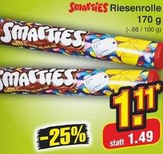 [Netto] : Smarties 170g Rolle für 1,11 €