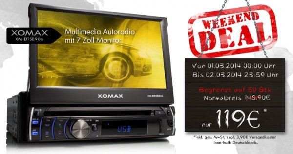 Weekend Deal bei CMS - XOMAX XM-DTSB906 Autoradio 122,90€