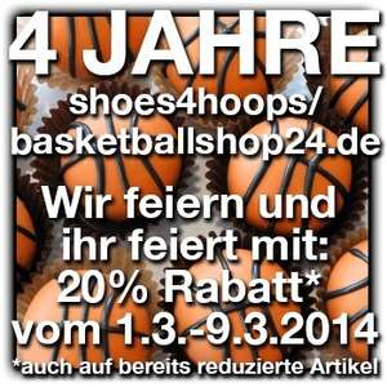 20% Rabatt BASKETBALLSHOP24.de - Nike - Adidas - Jordan