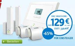 RWE Smarthome Einsteiger-Set (Zentrale, 2 Thermostate& 2 Sensoren) für 128,90€ @ cyberport