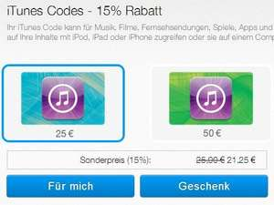 iTunes Codes: 15% bei PayPal