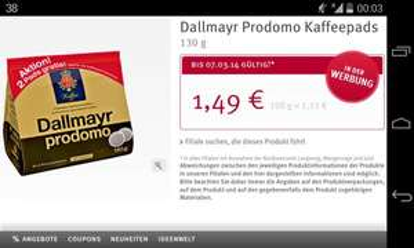 Dallmayr Prodomo 18 Kaffeepads für 1,49€