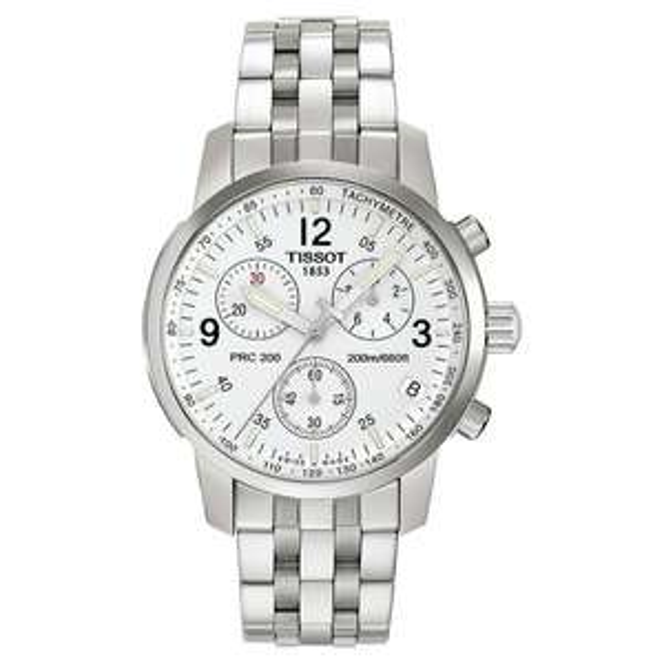 [WHD] Tissot Herren-Armbanduhr XL PRC 200 Chronograph Quarz Edelstahl