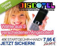 Handy nach Wahl + 45,00€ Startguthaben von Discotel für 7,95€ @DailyDeal