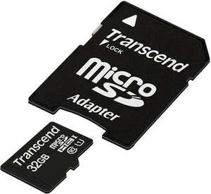 [Preissenkung!] Transcend 32GB micro SDHC10 UHS-1 (max. 45MB/s) mit Adapter 12,04 € @Otto (Lieferung an Hermes Shop)