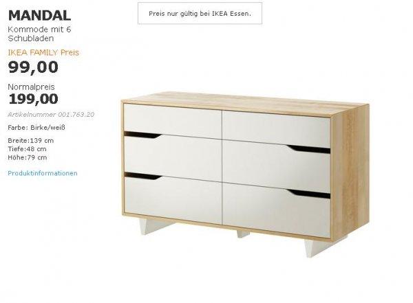 [Lokal] Ikea Essen MANDAL Kommode zum Family-Preis