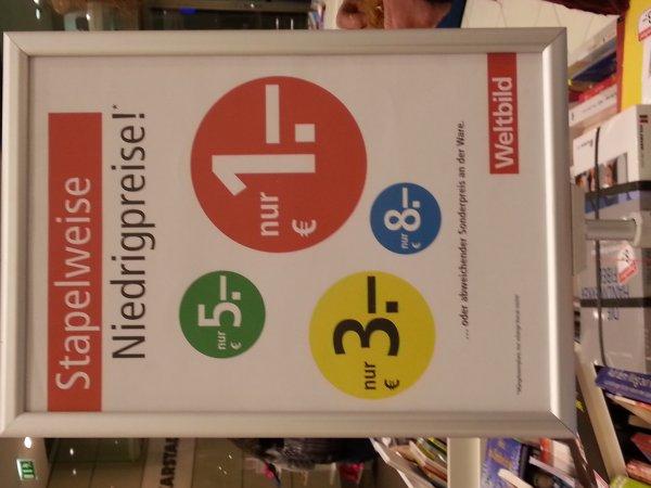(Lokal Hamburg) Karstadt Innenstadt: Bücher bis 80% reduziert bei Weltbild! Bis 8€!