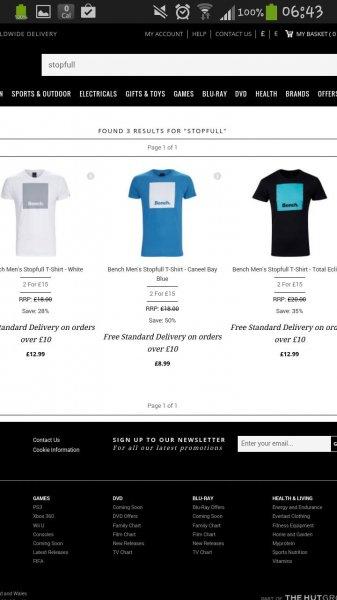 Zwei Bench Stopfull Herren T-Shirts für zusammen 18,20 Euro