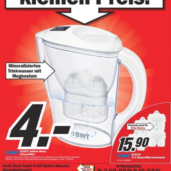 Wieder da. Media Markt BWT Wasserfilter 4,00 €