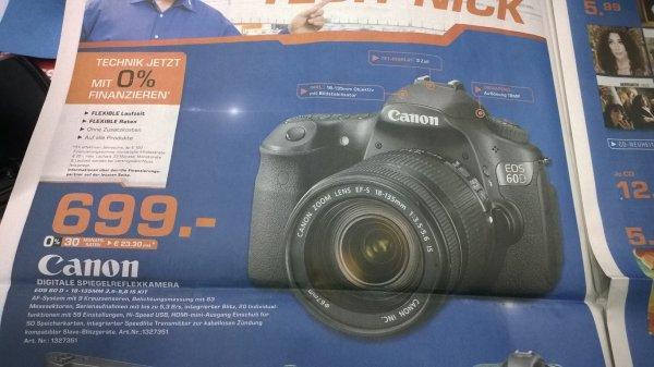 Saturn Bochum verkauft Canon EOS 60D 18-135mm IS für 699€ ( Nur Lokales Angebot)