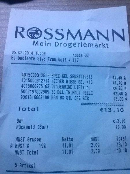 Rossmann Spee/ weisser Riese Gel je 1,40