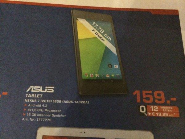 [LOKAL][Saturn Flensburg] Nexus 7 (2013) 16GB für 159,00€